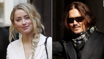 Amber Heard y Johnny Depp arriban a la corte el lunes.