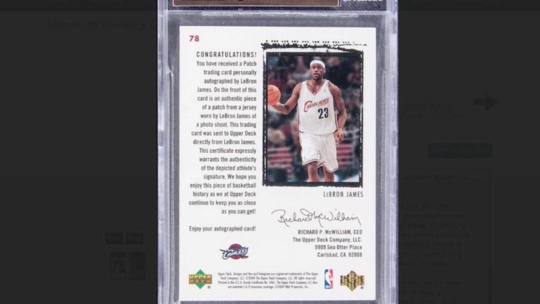 Subasta millonaria de una tarjeta de LeBron James