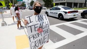 Educadores, en contra del regreso a clases en Florida