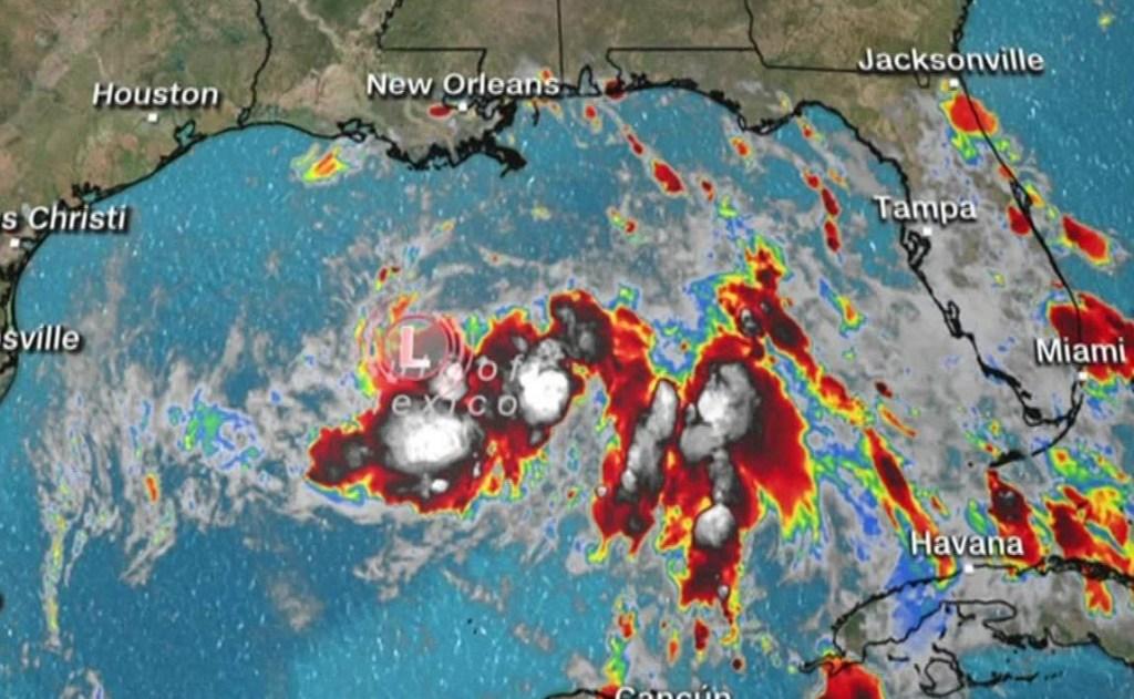 Depresión Tropical Ocho se fortalece en el Golfo de México