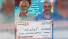 Thomas Cook cumple una promesa y comparte US$ 22 millones con un amigo
