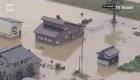 Desborde de río en Japón provoca inundaciones