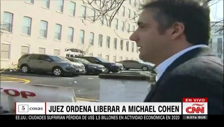 Juez ordena liberar a Michael Cohen