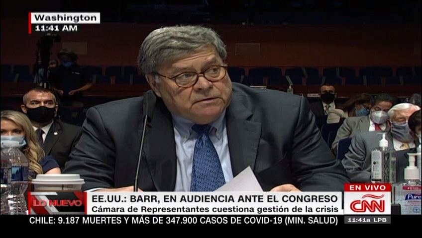 Barr testifica ante el Congreso de EE.UU.