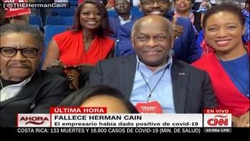 Muere el empresario Herman Cain de covid-19