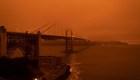 Incendios en San Francisco tiñen los cielos de naranja