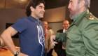 Maradona y Fidel Castro