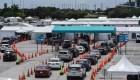 Covid-19: cuadras de espera para testearse en la Florida
