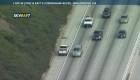 Hombre maneja contra el tránsito en autopista de California