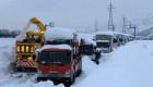 Una nevada causó 15 km de atasco en Japón