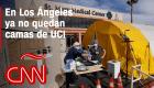Los Ángeles: sin camas de cuidados intensivos y con una muerte por covid-19 cada dos horas