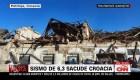 Sismo de magnitud 6,3 sacude a Croacia