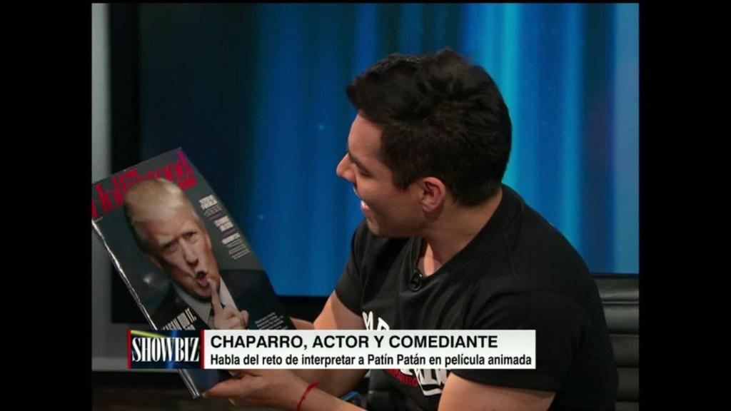Omar Chaparro rompe revista con el rostro de Trump