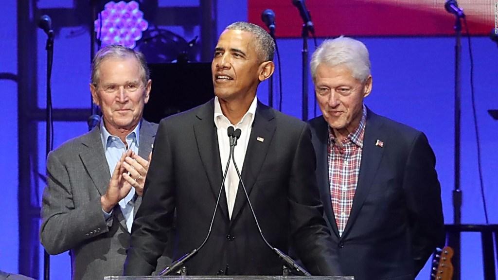 Obama, Bush y Clinton graban video en honor a Biden