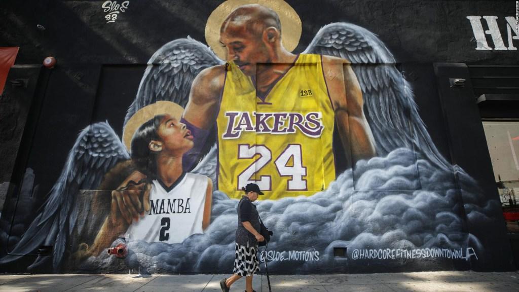 El recuerdo de Kobe Bryant en las calles de Los Ángeles