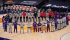 Figuras de la NBA y la turba en el Capitolio