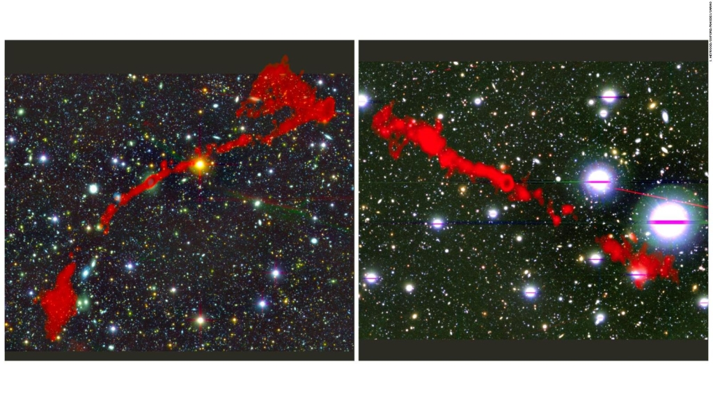 Estudio revela dos radiogalaxias gigantes