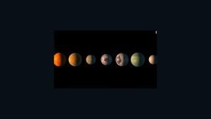 Sistema con 7 exoplanetas a 40 años luz de la Tiera