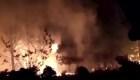 Fuertes imágenes de un incendio forestal en Argentina