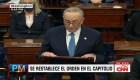 Chuck Schumer lamenta muerte en disturbios en el Capitolio