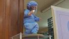 Niños Dios con mascarilla y careta, tendencia en pandemia