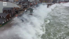 Enormes olas golpearon la costa noreste de EE.UU.
