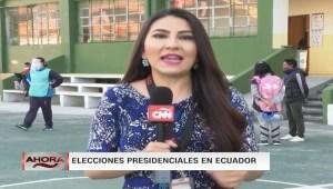 Ecuador inicia jornada electoral para elegir a su nuevo presidente