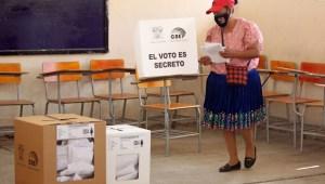 Datos de los resultados preliminares del CNE en Ecuador