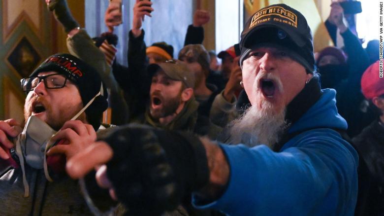 El papel de paramilitares en la insurrección al Capitolio