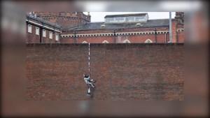 ¿Está Banksy detrás de esta obra pintada en una cárcel británica?
