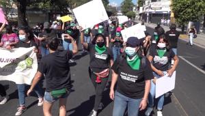 Marchas en El Salvador previas al Día de la Mujer