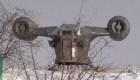 """Una réplica de la nave de """"The Mandalorian"""" en Siberia"""
