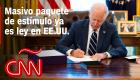 Biden promulga paquete masivo de estímulo de covid-19 de US$ 1,9 billones