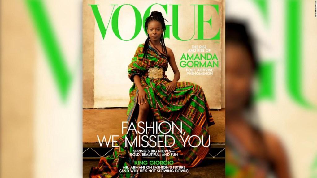 Amanda Gorman aparece en la portada de Vogue