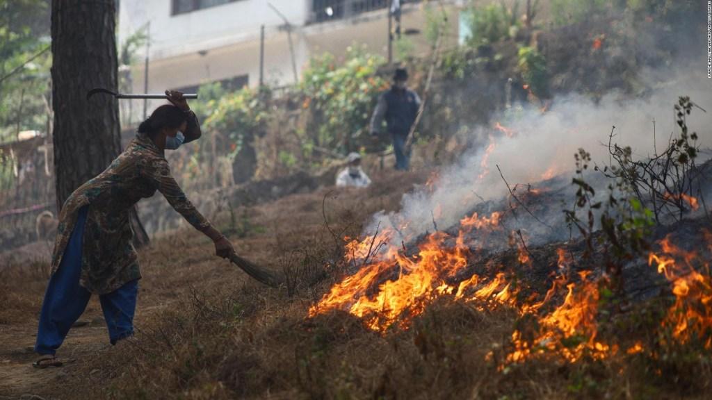 Alerta en Nepal por incendios forestales