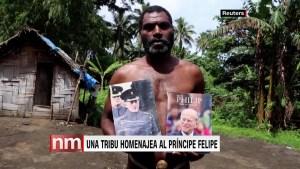 Tribu en una isla rindió homenaje al príncipe Felipe