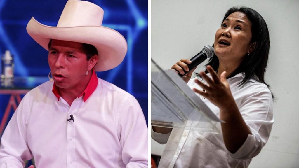 Castillo y Fujimori: dos polos opuestos buscan la presidencia