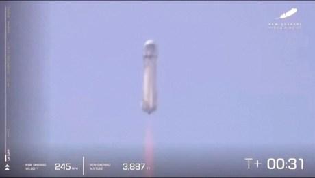 Blue Origin avanza en los vuelos espaciales