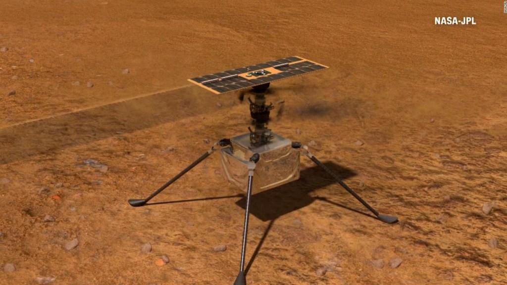 Histórico: exitoso primer vuelo del Ingenuity en Marte