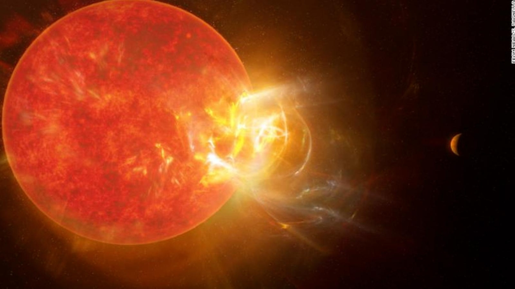 La estrella Próxima Centauri emite una llamarada gigante