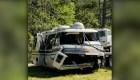 Así quedó la caravana de Willie Colón tras el accidente