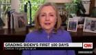 La calificación de Hillary Clinton al gobierno de Biden