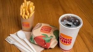 Burger King busca sustituir el plástico en sus empaques