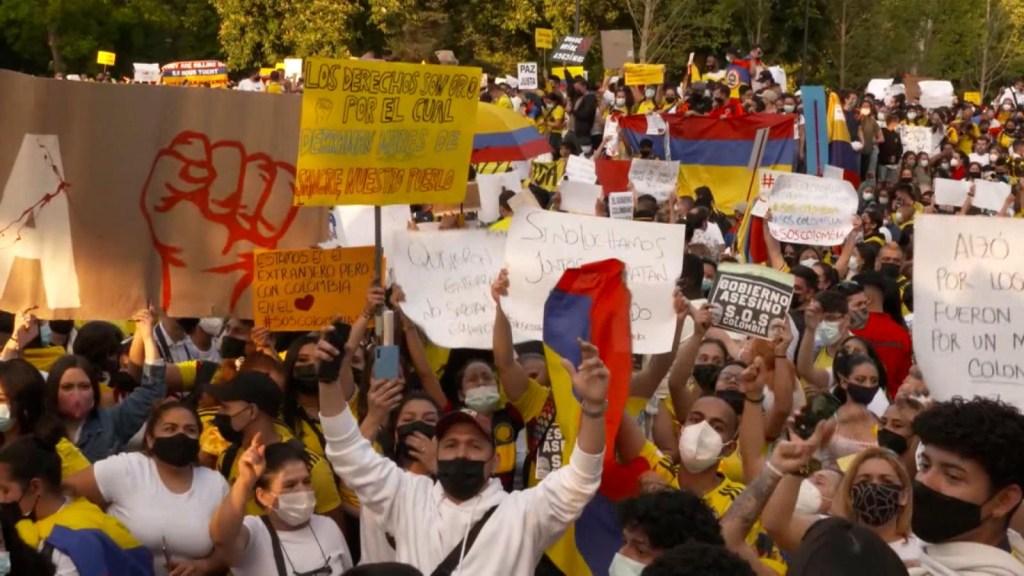 Voces de colombianos en España en apoyo a las protestas