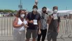Familia colombiana viajó a EE.UU. para vacunarse