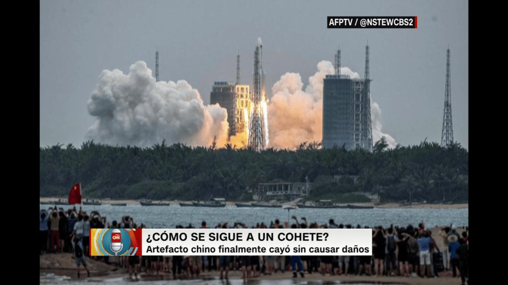 ¿Puede volver a caer un cohete sin control en la Tierra?