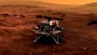 China aterriza con éxito su primer rover en Marte