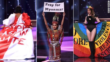 Los mensajes políticos de concursantes de Miss Universo
