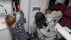 ¿Cómo se vio el eclipse desde un avión?