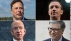 Filtran datos de impuestos de Musk, Bezos y Zuckerberg